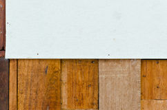 Old hardwood wall for background use Royalty Free Stock Image