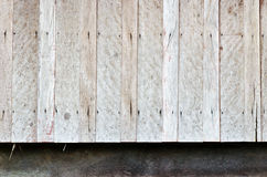 Old hardwood wall of very old house Royalty Free Stock Photo