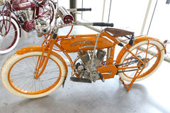 Old Harley Davidson. An old Harley Davidson motorcycle in the store Royalty Free Stock Photography