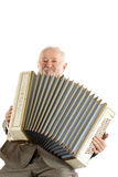 Old harmonica player Stock Photos