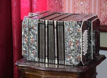 Old Harmonica Stock Photo