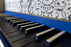 Old harpsichord keyboard, close-up view Stock Photo