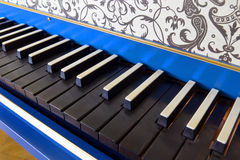 Old harpsichord keyboard, close-up view Stock Photography
