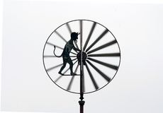 Old Harry. Detail of the wind-wheel anemometer royalty free stock photos
