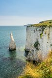 Old Harry Rocks - cliffs in britain in South England Royalty Free Stock Photo