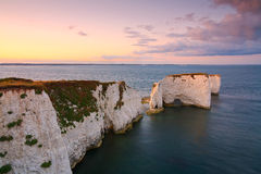 Old Harry Rocks in Dorset. Stock Photos