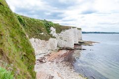 Old Harry Rocks, Dorset, United Kingdom. The Old Harry Rocks are three chalk formations, including a stack and a stump, located on the Isle of Purbeck in Dorset Stock Image
