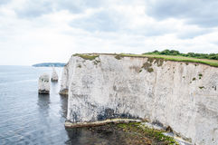 Old Harry Rocks, Dorset, United Kingdom. The Old Harry Rocks are three chalk formations, including a stack and a stump, located on the Isle of Purbeck in Dorset royalty free stock images