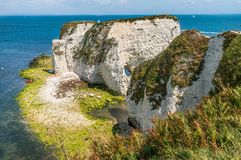 Old Harry Rocks in Isle of Purbeck in Dorset Royalty Free Stock Photos