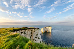 Old Harry Rocks near Swanage in Dorset Royalty Free Stock Images