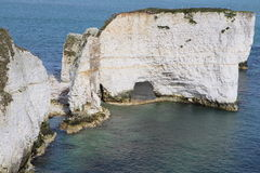 The Old Harry Rocks in Swanage in south England Royalty Free Stock Photos