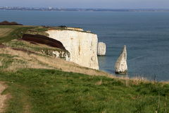The Old Harry Rocks in Swanage in south England Stock Photography