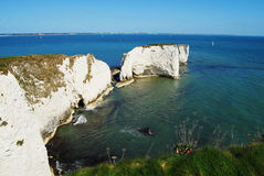 Old Harry Rocks. White chalk of Old Harry Rocks, Dorset Royalty Free Stock Photo