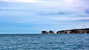 Old Harry's Rocks Dorset. Coastal feature near Bournemouth caused by sea erosion Stock Photo