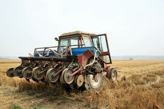 Old harvester Royalty Free Stock Image