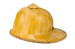 Old hat made of woven bamboo Stock Photography