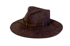 Old hat side view Stock Images