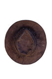 Old hat top view Royalty Free Stock Image