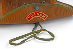 Old hat with vietnam patch Stock Photos