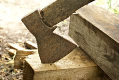 Old hatchet Royalty Free Stock Photography