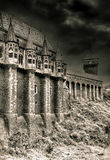 Old haunted castle stock photo