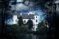 Old Haunted Castle Stock Images