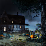 Old haunted house Stock Photo
