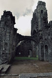 Old and Haunted ruins Llanthony priory, Abergavenny, Monmouthshire, Wales, Uk Stock Photography