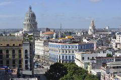 Old Havana architecture in Cuba. Royalty Free Stock Photography