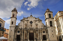 Old havana Cathedral royalty free stock images