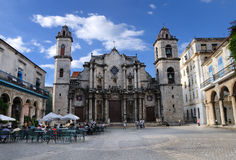 Old havana Cathedral building, october 2008. Stock Images