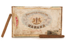 Old havana cigar box Stock Image
