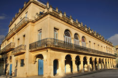 Old havana colonial building stock photography