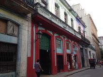 Old Havana - Cuba - colonial building part restoration Royalty Free Stock Images