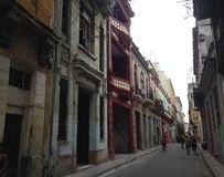 Old Havana - Cuba - colonial buildings & restoration Royalty Free Stock Image