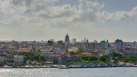 Old Havana, Cuba Panorama. Panoramic view of Old Havana across the bay in Cuba Stock Image