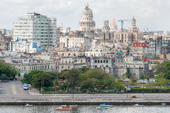 Old Havana including the Capitol building Royalty Free Stock Images