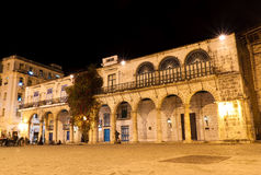 Old Havana at night Royalty Free Stock Images