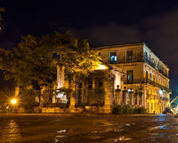 Old Havana at night Stock Image