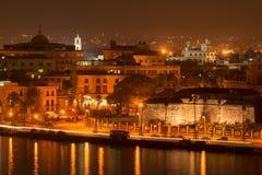 Old Havana at night. Old Havana illuminated at night Royalty Free Stock Photo