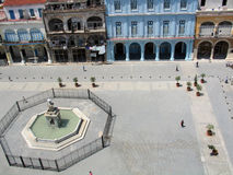 Old Havana plaza Royalty Free Stock Images