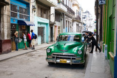 Old Havana Street Scene, Cuba Royalty Free Stock Image