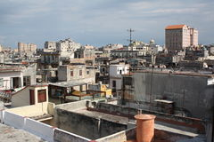 Old Havana view from a high roof (I). Old Havana view from a high roof, Cuba (I Stock Photo