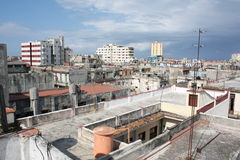 Old Havana view from a high roof (II) Royalty Free Stock Image