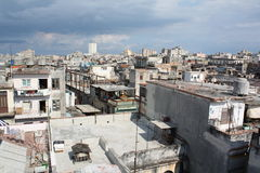 Old Havana view from a high roof (III) Stock Photo