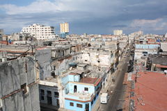 Old Havana view from a high roof (V). Old Havana view from a high roof, Cuba (V Stock Photos