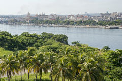 Old Havana viewed from Morro castle Royalty Free Stock Photos