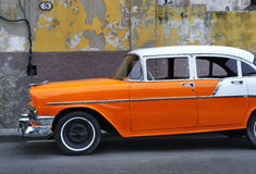Old Havana vintage car Royalty Free Stock Photo