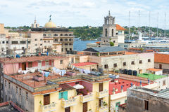 Old Havana with well known landmarks Stock Photos