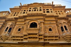 Old haveli in Jaisalmer Fort. Rajasthan. India. Jaisalmer is a city in the Indian state of Rajasthan, known as the golden city royalty free stock photo